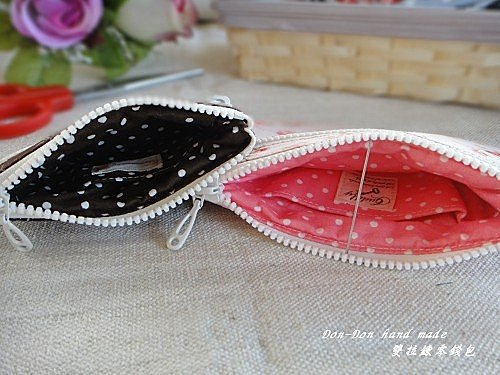 蝴蝶結工具包&雙拉錬零錢包(5)