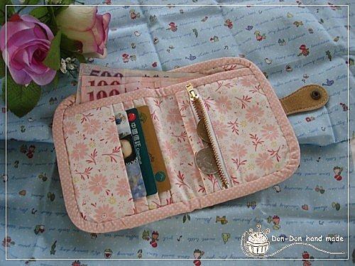 粉紅蕾絲短夾(2)