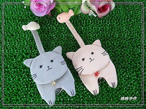 大臉貓咪鑰匙包