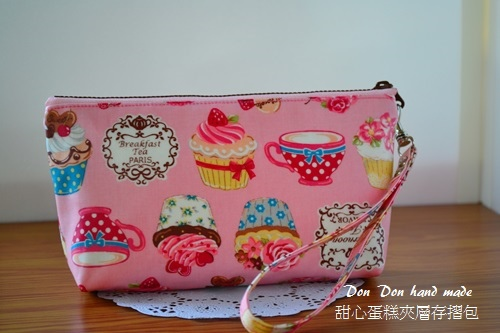 防水布。甜心蛋糕夾層存摺包(2)