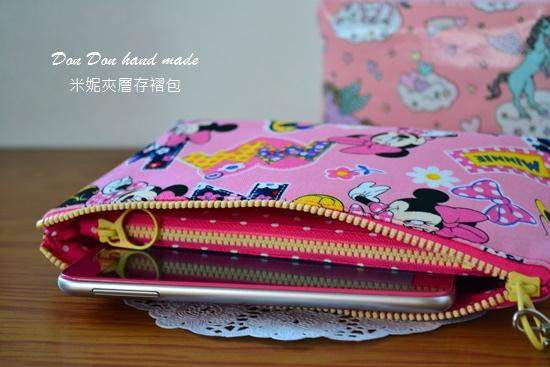 米妮夾層存褶包。日本彩虹飛馬單拉鍊三層零錢包(5)