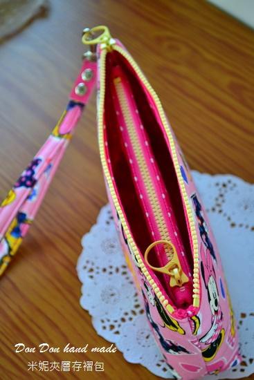 米妮夾層存褶包。日本彩虹飛馬單拉鍊三層零錢包(6)