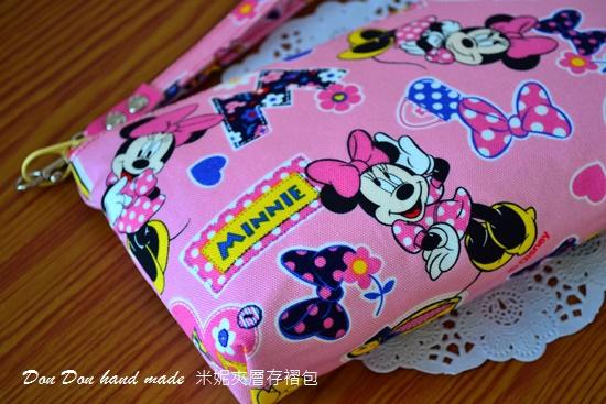 米妮夾層存褶包。日本彩虹飛馬單拉鍊三層零錢包(8)
