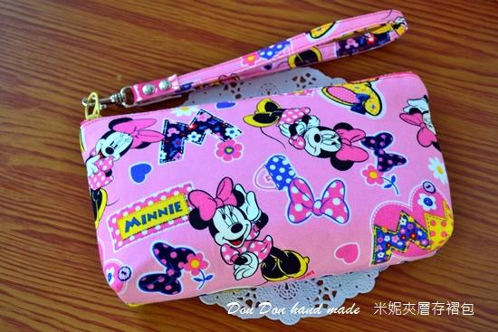 米妮夾層存褶包。日本彩虹飛馬單拉鍊三層零錢包(7)