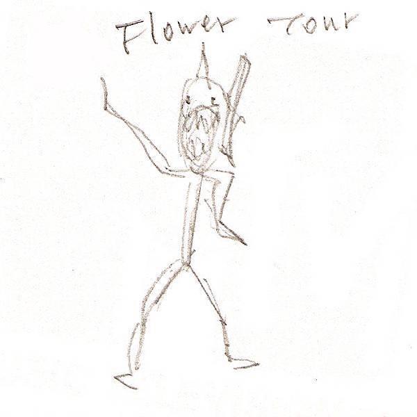 花朵演唱會T恤設計圖一