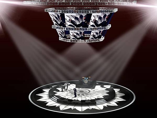 1215巨蛋演唱會舞台圖
