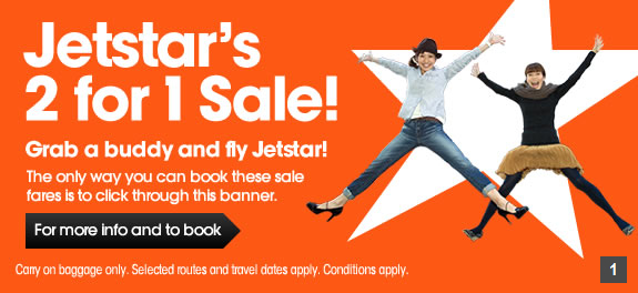 Jetstar 2 for 1 sale