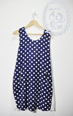 好女生必備藍底白點洋裝