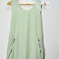 清新好感女孩 - 嫩綠無袖洋裝