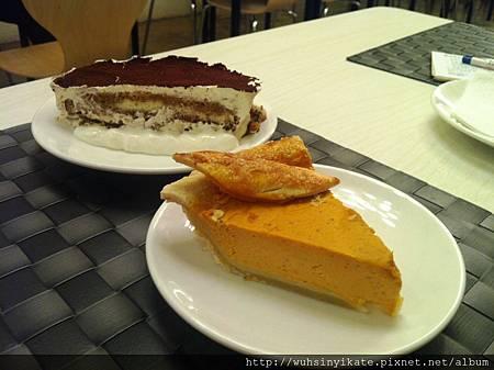 手工蛋糕:提拉米蘇及南瓜派