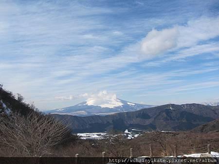 大涌谷 遠眺富士山