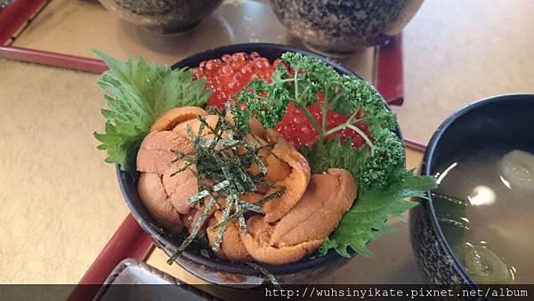 海膽鮭魚卵井飯