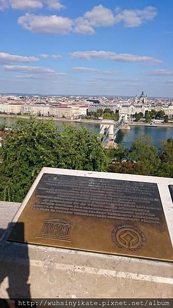 從城堡山遠眺 塞切尼鏈橋 Széchenyi lánchíd