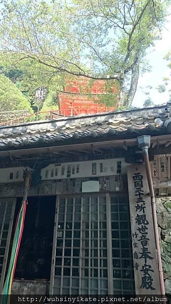 竹生島宝厳寺 西國三十三所巡禮的觀音堂 後面為三重の塔
