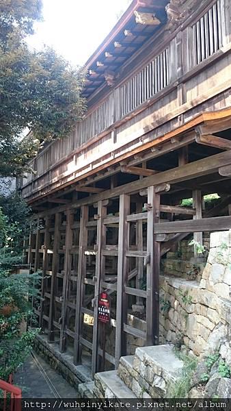 竹生島宝厳寺 舟廊下的外觀