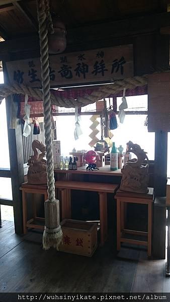 竹生島神社 龍神拝所