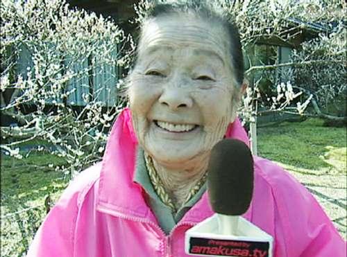 圖:一百零五歲、全球最老的記者森婆婆成為傳媒焦點 (日本天草電視台)
