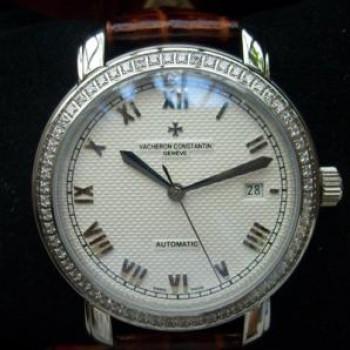 江詩丹頓3針襄鑽全自動機械計時 男錶