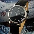 江詩丹頓 黑面魅力 瑞士石英機芯 藍寶石高檔男士手錶