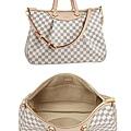 「LV」大號白格時尚手袋購物袋N41111