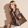 「LV」時尚格子單肩包女性手袋N51203-大 N51204-中 N51205-小