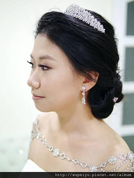 韓式簡約高雅低盤髮