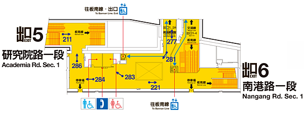 BL18南港展覽館通道示意圖 南側.png.png