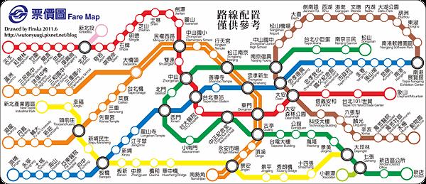 試作台北捷運票價圖(橘雙線版).png