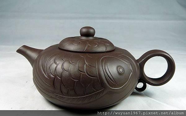 紫砂雙魚壺