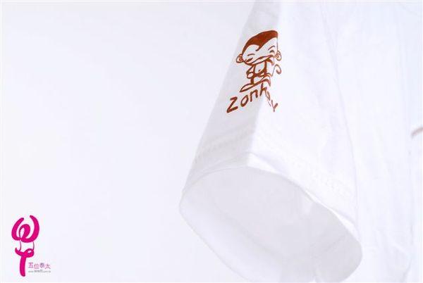 可愛猴白色短袖棉T恤