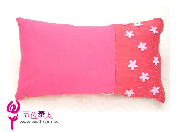 彩色花花棉布三色抱枕