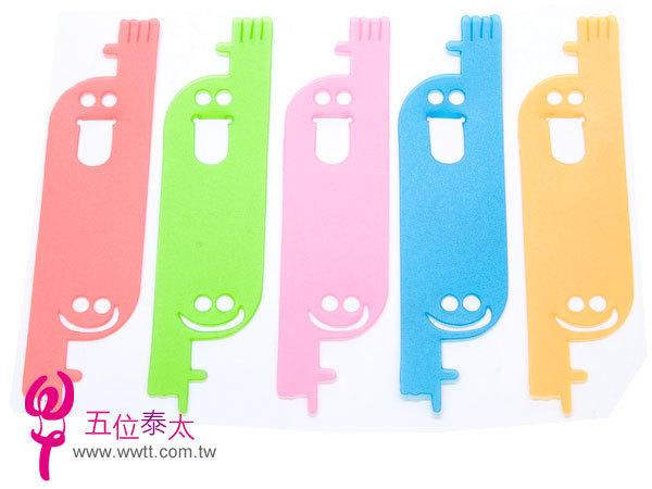 五彩塑膠造型書籤