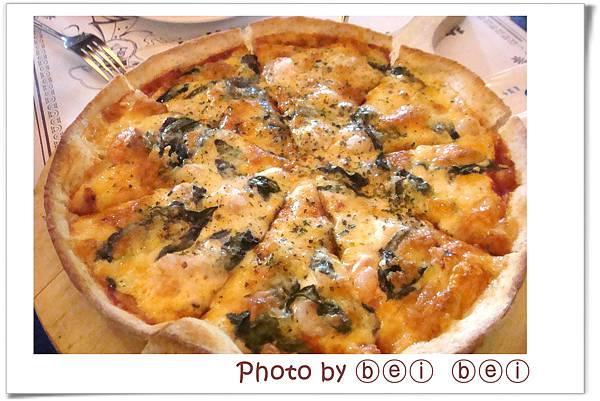 義米蘭10羅勒先蝦披薩