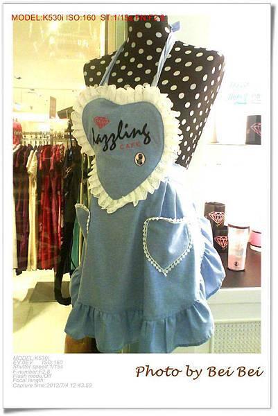 DazzLING Cafe Sky蜜糖吐司可愛的圍裙