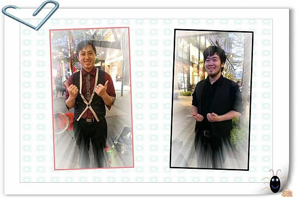 2014年馬年新春信義區街頭魔術氣球表演-兩人個人照.jpg