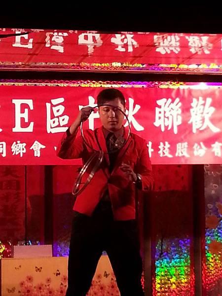 【表演實錄】2014年桃園真愛社區中秋節大會烤晚會-魔術+氣球表演3