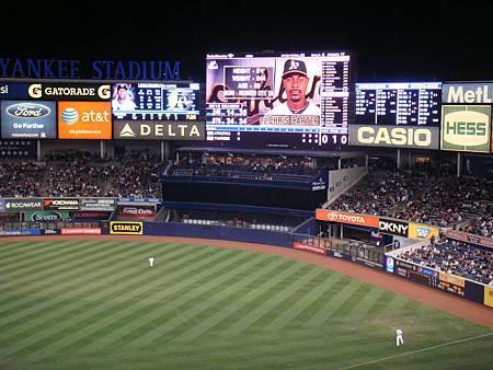 洋基球場外野大螢幕