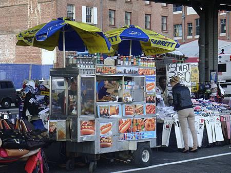 紐約街頭常出現的餐車