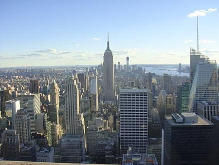 Top of the Rock南邊的下曼哈頓