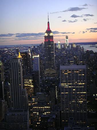 曼哈頓的夜景。