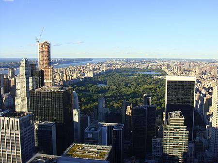 中央公園高空圖。