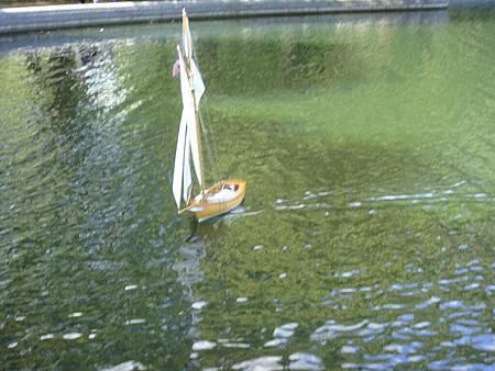 溫室水塘的遙控風帆