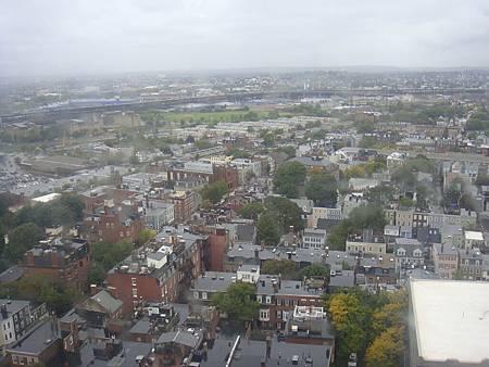 波士頓的高空景