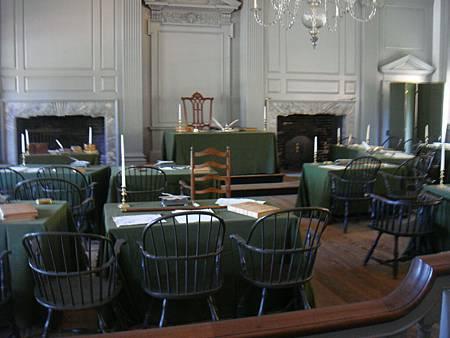 撰寫獨立宣言的會議室