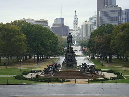 從美術館看費城市區