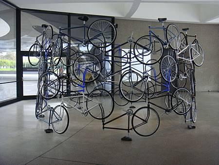 腳踏車組合成的藝術