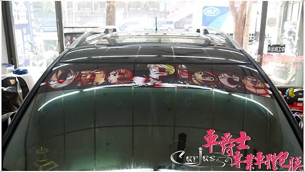 MITSUBISHI OUTLANDER 航海王 海賊王 前檔貼 車身彩貼
