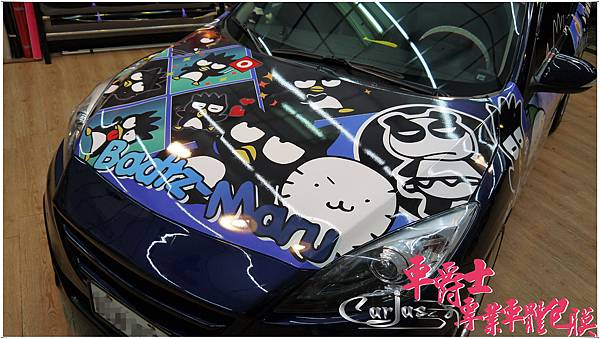 二代MAZDA3 酷企鵝 車身彩貼