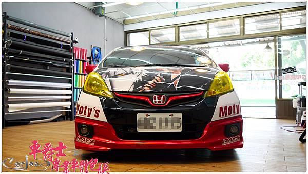 HONDA FIT 客製化競技痛車風格車身彩貼