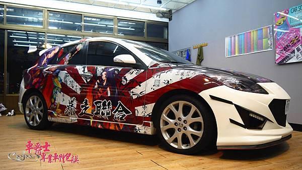 二代MAZDA3日系痛車風格車身彩貼